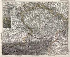 Europe, Austria, Hungary and Czech Republic & Slovakia Map By Adolf Stieler