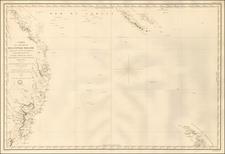 Australia and New Zealand Map By Clement Adrien Vincendon Dumoulin