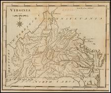 Virginia Map By Joseph Scott