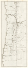 Pacific Northwest and Oregon Map By U.S. General Land Office