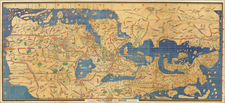 World, Turkey, Middle East and Turkey & Asia Minor Map By Konrad Miller