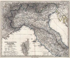 Italy Map By Adolf Stieler