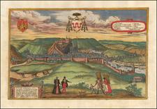 Belgium Map By Georg Braun  &  Frans Hogenberg