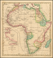 Map Of Africa 1800.Africa Including The Mediterranean Reduced From The Four Sheet Map