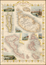 Greece, Mediterranean and Balearic Islands Map By John Tallis