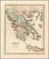 Greece Map By Fielding Lucas Jr.
