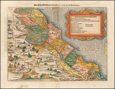 Holy Land Map By Sebastian Munster