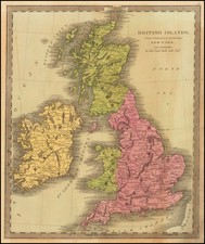 British Isles Map By David Hugh Burr
