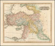 Turkey, Middle East and Turkey & Asia Minor Map By Fielding Lucas Jr.