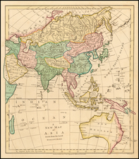 Asia and Australia Map By Robert Wilkinson