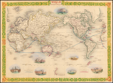 World Map By John Tallis