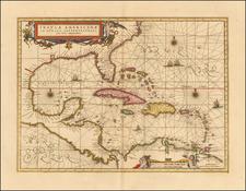 Insulae Americanae in Oceano Septentrionali. cum Terris adiacentibus. By Peter Schenk  &  Gerard Valk