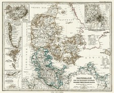 Europe and Scandinavia Map By Adolf Stieler