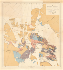 Canada Map By Julius Bien & Co.