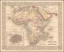 Africa Map By Samuel Augustus Mitchell Jr.