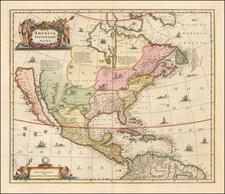 North America Map By Peter Schenk  &  Gerard Valk