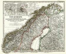 Scandinavia Map By Adolf Stieler