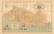 Central America Map By Waterlow & Sons