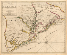 Southeast and South Carolina Map By Pierre Mortier