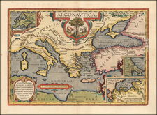 Greece, Turkey, Mediterranean and Turkey & Asia Minor Map By Abraham Ortelius