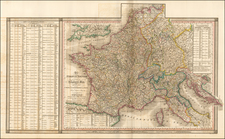 France and Northern Italy Map By William Faden