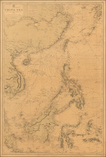 China, Southeast Asia, Philippines and Indonesia Map By British Admiralty
