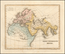 World, Europe, Asia and Africa Map By Fielding Lucas Jr.