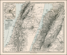Asia and Holy Land Map By Adolf Stieler