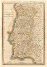 Portugal Map By William Faden