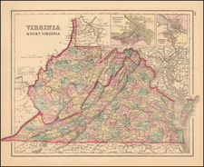 West Virginia and Virginia Map By O.W. Gray