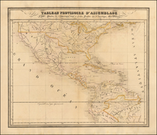 United States, Mexico and South America Map By Philippe Marie Vandermaelen