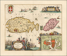 Malta Map By Peter Schenk  &  Gerard Valk