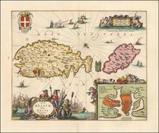 Malta Map By Peter Schenk  &  Gerard Valk