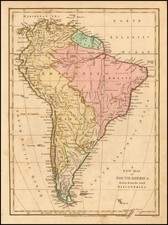 A New Map of South America drawn from the latest Discoveries By Robert Wilkinson
