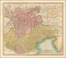 Austria and Northern Italy Map By John Cary