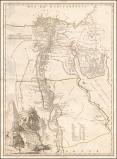 Egypt Map By Charles Francois Delamarche