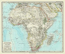 Africa and Africa Map By Adolf Stieler