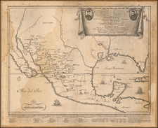 South, Texas, Southwest, Rocky Mountains, Mexico and Baja California Map By Giovanni Petroschi / Jose Antonio de Sylverio Villaseñor y Sánchez