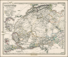 Africa, North Africa and West Africa Map By Adolf Stieler