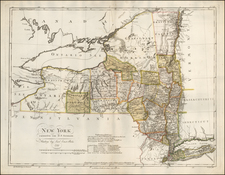 New York State Map By Daniel Friedrich Sotzmann