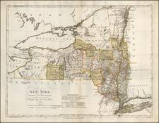 New York State Map By Daniel Friedrich Sotzmann