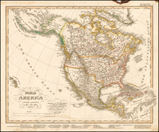 North America Map By Adolf Stieler