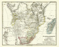 Africa, South Africa, East Africa and West Africa Map By Adolf Stieler