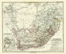 Africa and South Africa Map By Adolf Stieler
