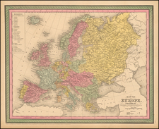 Europe and Europe Map By Thomas, Cowperthwait & Co.