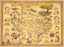 Texas Map By Guy  F. Cahoon