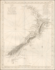 New Zealand Map By James Cook