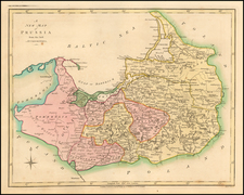 A New Map of Prussia from the best Authorities By Robert Wilkinson