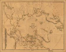 Map Of The North Polar Region  By William Bauman