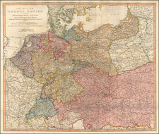 Germany and Poland Map By William Faden
